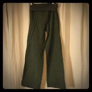 Linen fold over pant